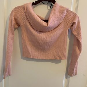 Pink, ribbed sweater